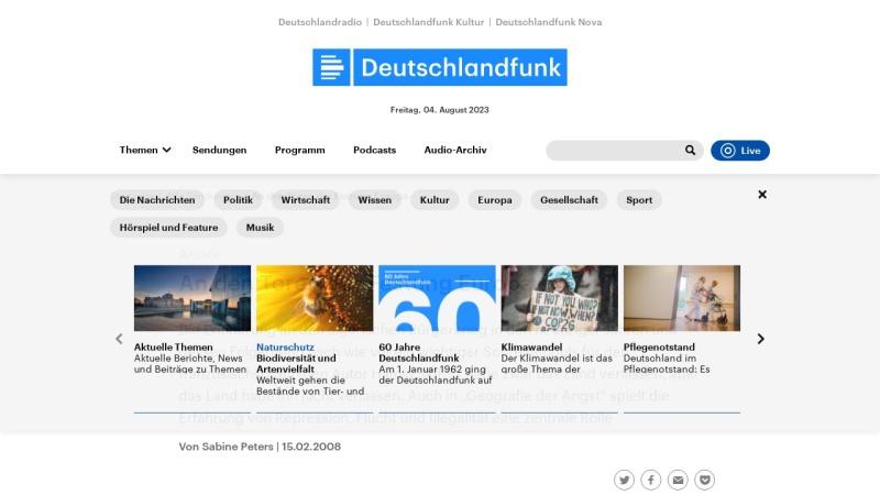 www.dradio.de Vorschau, Hamid Skif: Geografie der Angst
