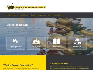 Screenshot for dragonboatingwa.asn.au