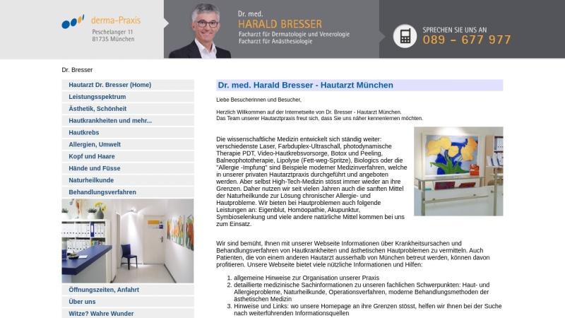 www.drbresser.de Vorschau, Bresser, Dr. med. Harald