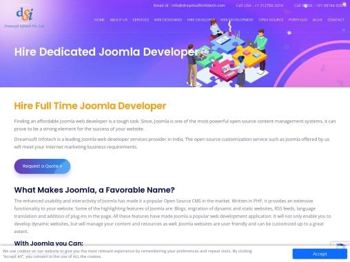 Hire Dedicated Joomla Developer in Netherlands