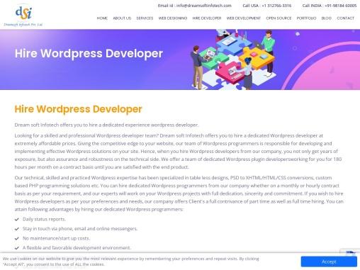 Hire wordpress development company in India