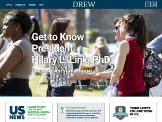 Screenshot for drew.edu