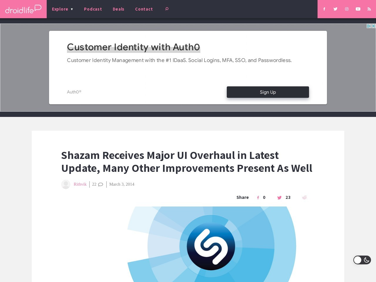Shazam Receives Major UI Overhaul in Latest Update, Many Other …