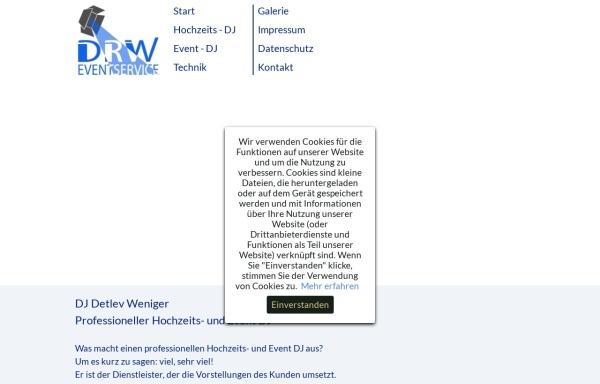 Vorschau von www.drw-disco.de, DRW-Veranstaltungsservice