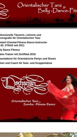 Vorschau der mobilen Webseite www.dschanan.de, Dschanans