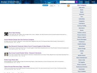 Screenshot for dubaiclassify.com