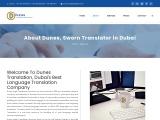 Dunes-russian translation dubai