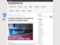 Ultimate Business Solutions as Creative Facebook Pages