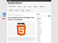 The Ultimate HTML5 Tutorials and Useful Techniques