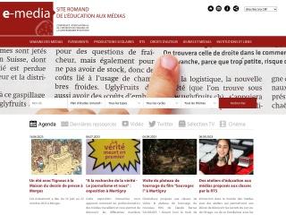 Screenshot der Website e-media.ch