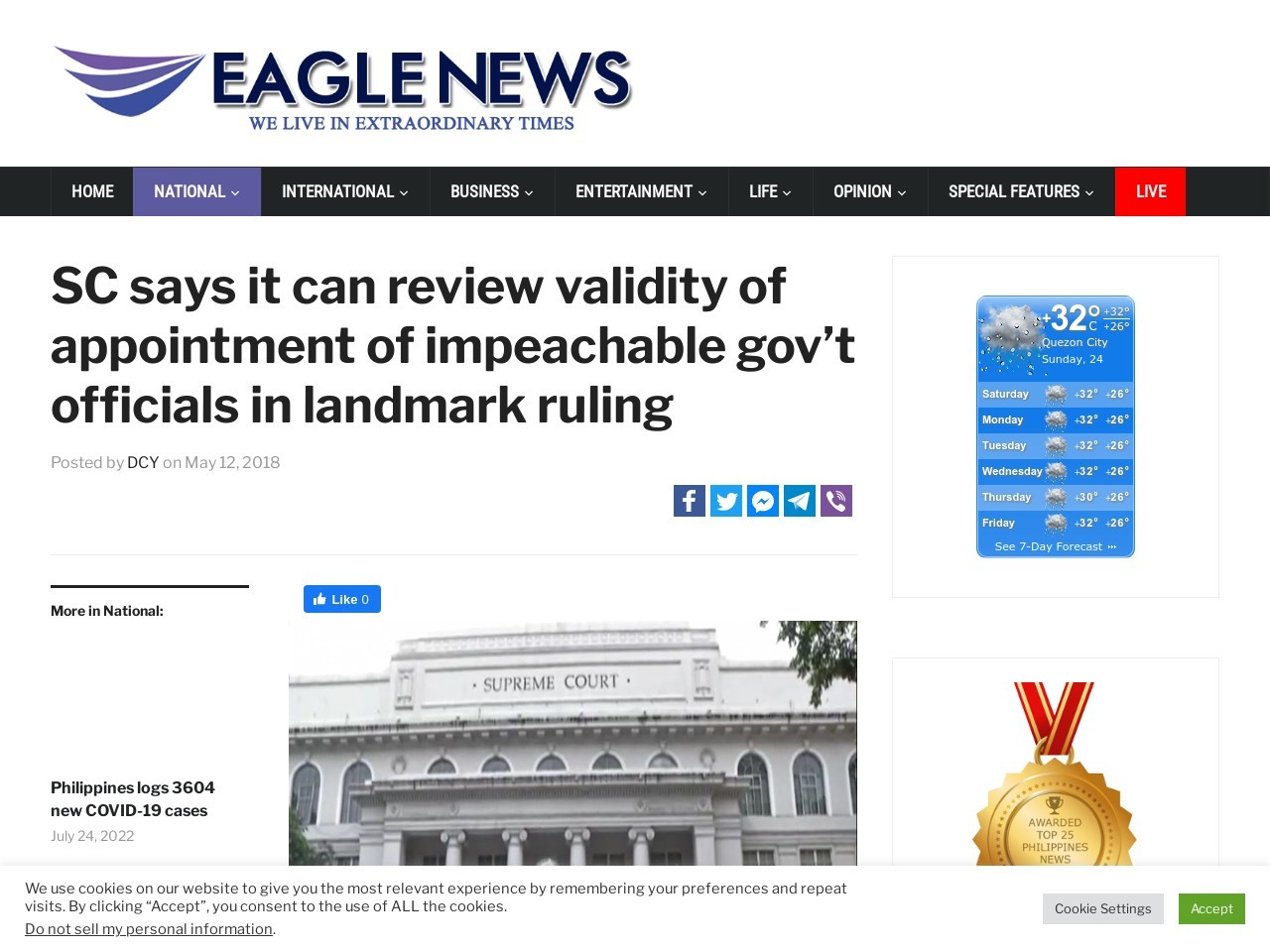 SC says it can review validity of appointment of impeachable gov't…