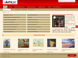 Screenshot stránky eantik.sk