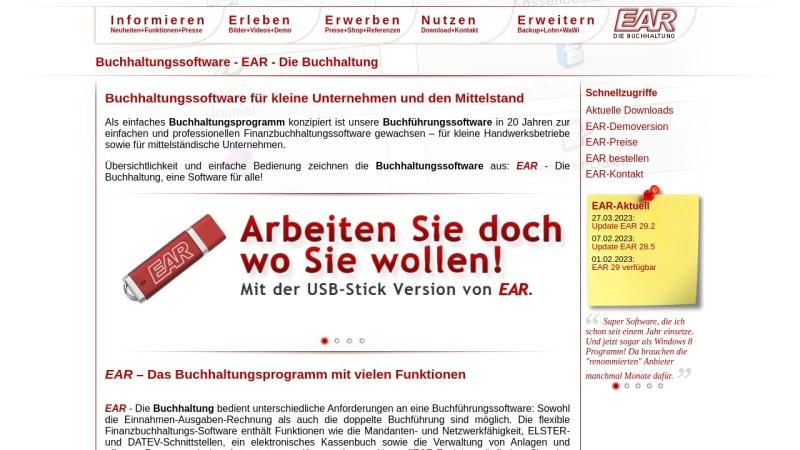 www.ear-buchhaltung.de Vorschau, EAR, Michael Hertlein