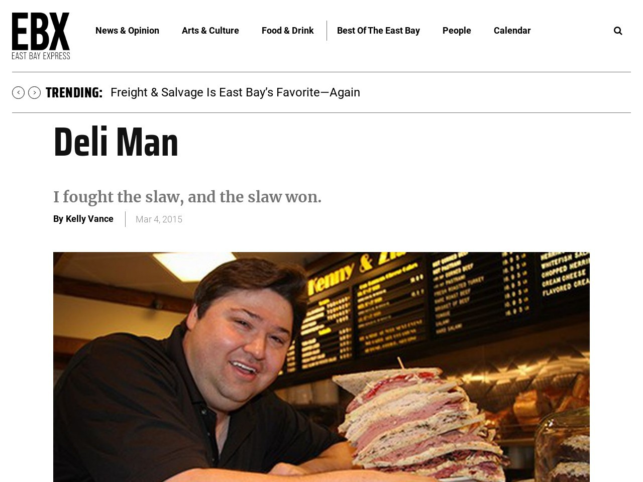 Movie Review: Deli Man | East Bay Express