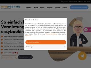 Screenshot der Website easybooking.at