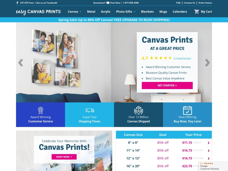 Easy Canvas Prints screenshot