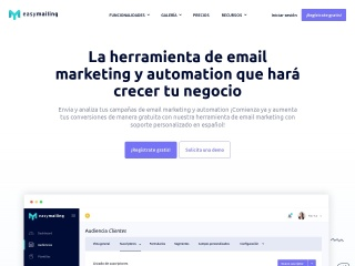 Captura de pantalla para easymailing.es