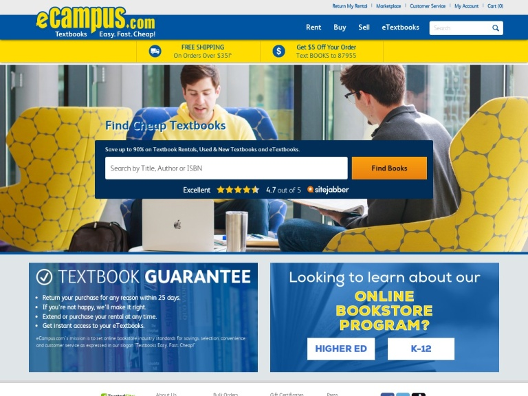 eCampus.com screenshot