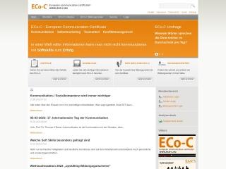 Screenshot der Website eco-c.at