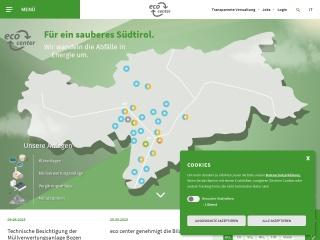 screenshot eco-center.it