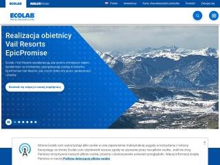Zrzut ekranu strony ecolab.com.pl