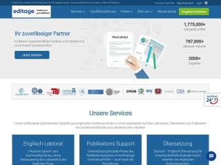 Screenshot der Website editage.de