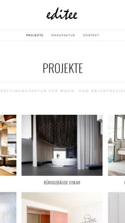 Vorschau der mobilen Webseite www.editee.de, Dolphin GmbH