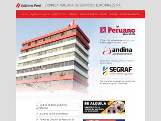 Captura de pantalla para editoraperu.com.pe