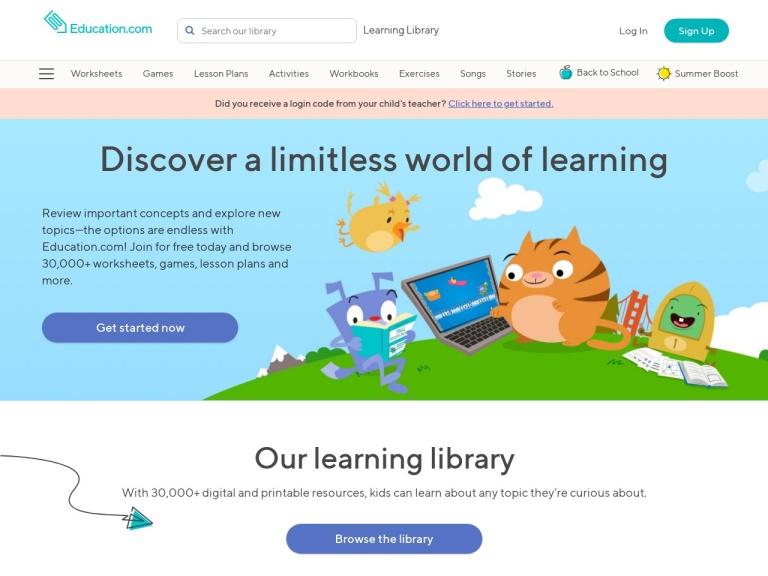 Education.com screenshot
