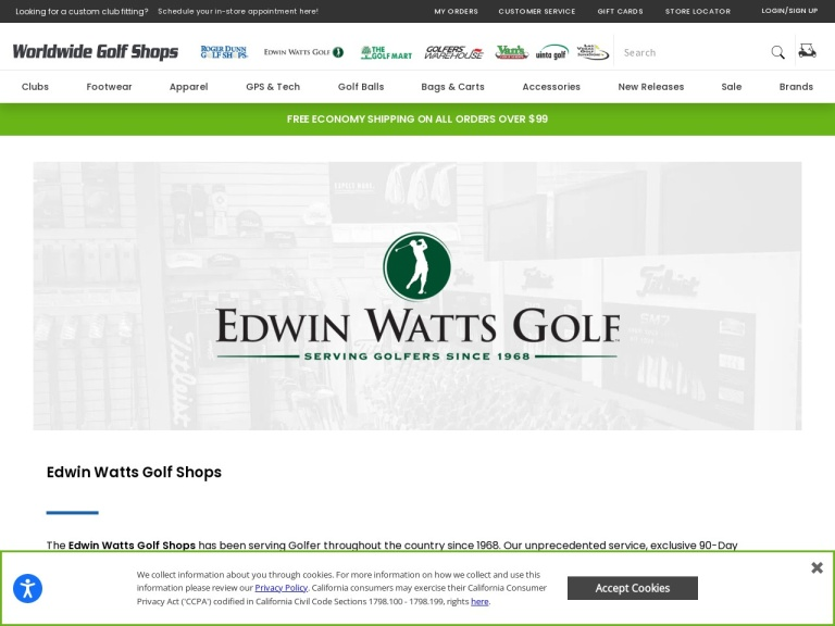 Edwin Watts Golf screenshot