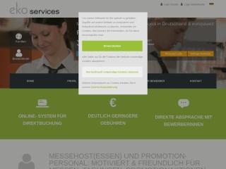 Screenshot der Website ekoservices.de