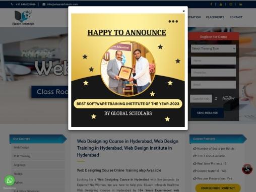Web Designing Training Institute in Hyderabad
