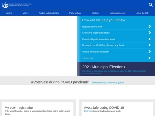 Screenshot for elections.org.za