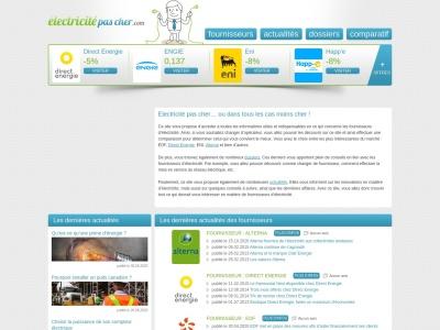 ElectricitePasCher.com - comparatif des fournisseurs d'énergie