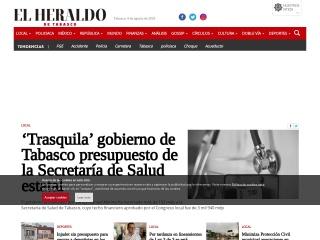 Captura de pantalla para elheraldodetabasco.com.mx