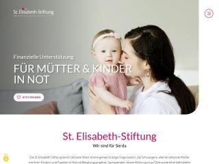 Screenshot der Website elisabethstiftung.at