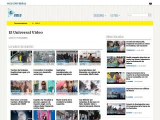 Captura de pantalla para eluniversaltv.mx