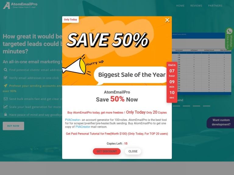 EmailScraperChief Coupon Codes screenshot