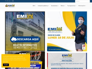 Captura de pantalla para emi.edu.bo