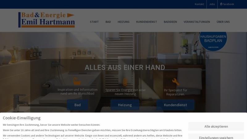 www.emilhartmann.de Vorschau, Emil Hartmann GmbH & Co.