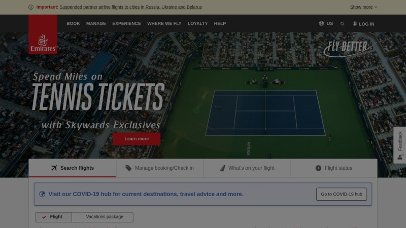 www.emirates.com Vorschau, Emirates Airlines