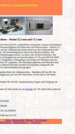 Vorschau der mobilen Webseite www.enclosures-din.com, Elsys GmbH