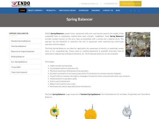 Spring Balancer Company in India. Endo Spring Balancers