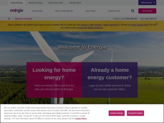 Screenshot for energia.ie