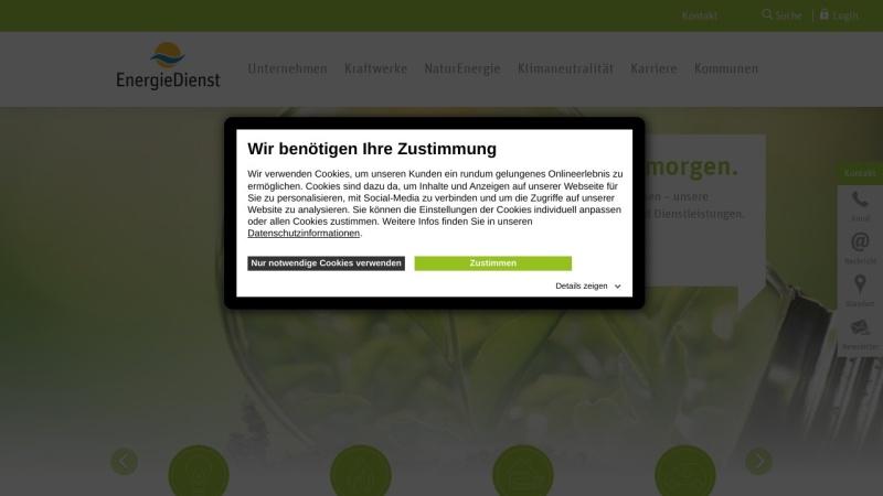 www.energiedienst.de Vorschau, EnergieDienst AG