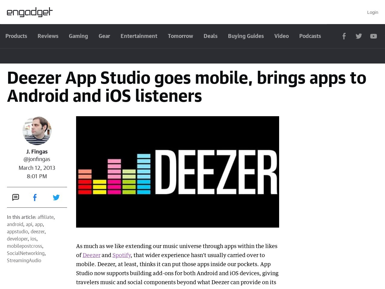 Deezer App Studio goes mobile, brings apps to Android and iOS …