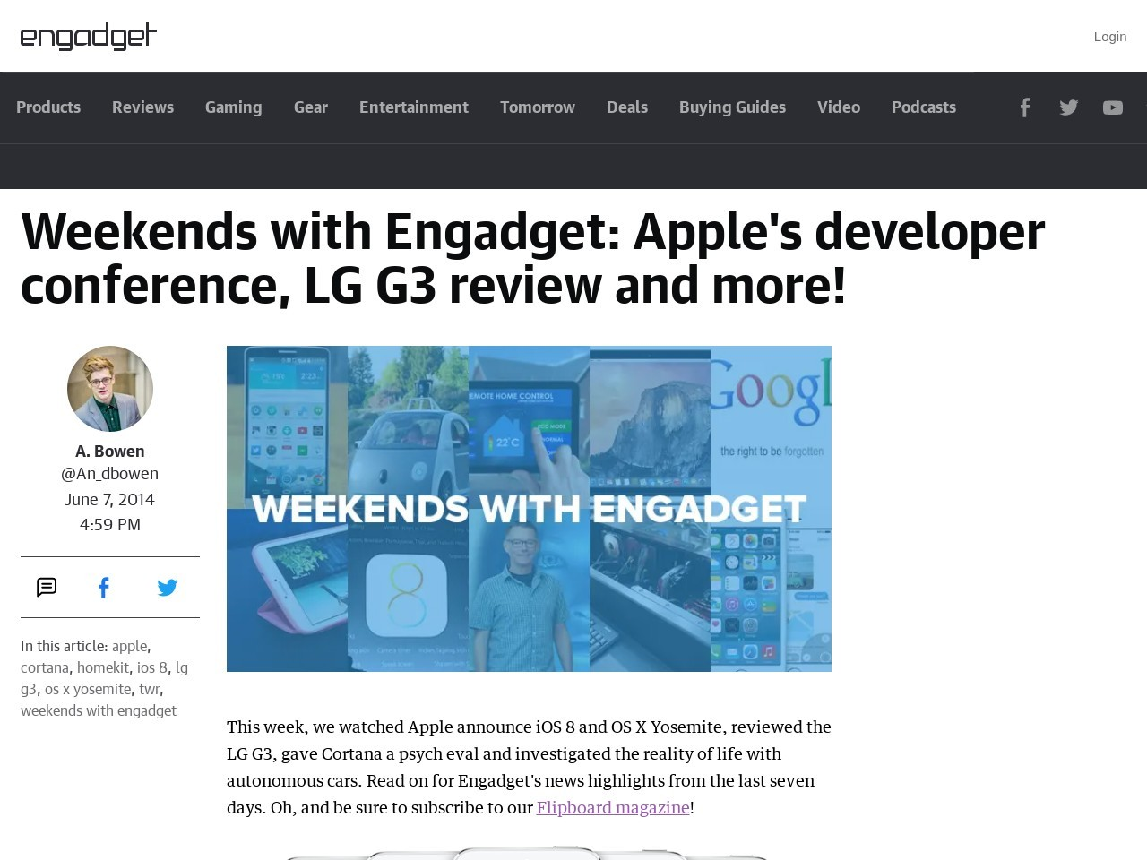 Weekends with Engadget: Apple's developer conference …