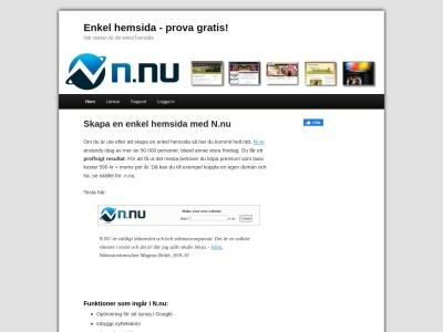 www.enkelhemsida.nu