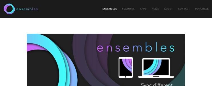 screenshot of Ensembles