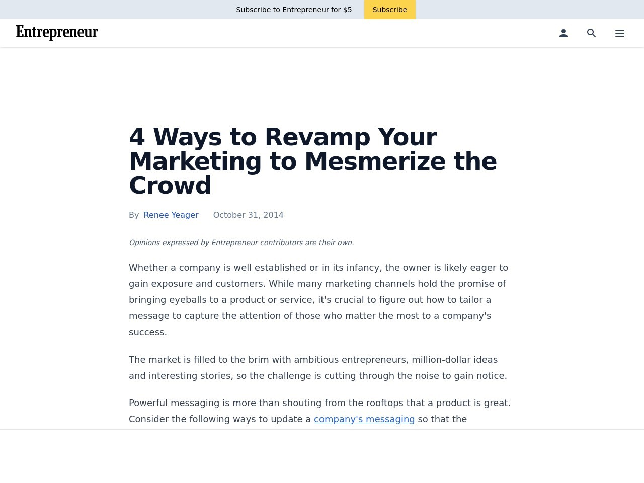 4 Ways to Revamp Your Marketing to Mesmerize the Crowd